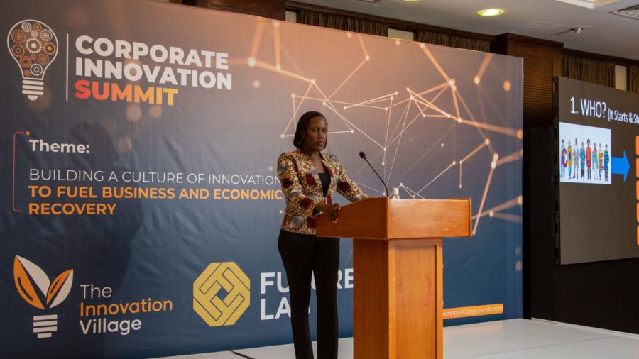 Joanita.M. Menya, the Managing Directorate at Unilever Uganda giving her remarks.